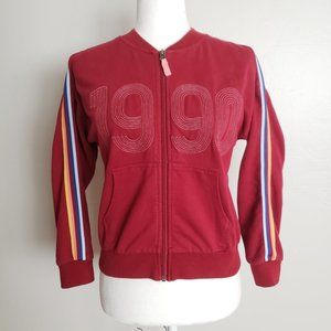Lucky Brand 1990 Jorgina Retro Style Track Sweater